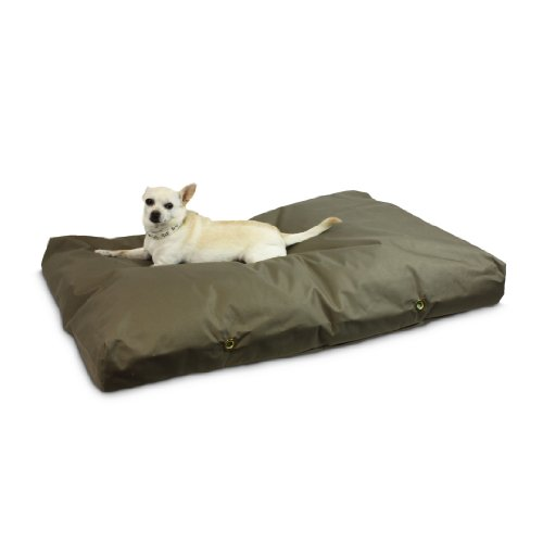 Snoozer Waterproof Rectangle Pet Bed, Large, Hazelnut, 36 by