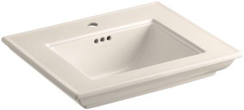 KOHLER K-2345-1-55 Memoirs Bathroom Sink Basin with Stately Design and Single-Hole Faucet Drilling, Innocent Blush