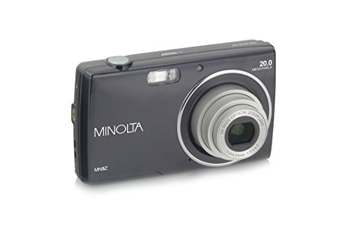 Minolta 20 Mega Pixels Digital Camera, 5X Optical Zoom & HD Video with 2.7″ LCD, Black (MN5Z-BK)