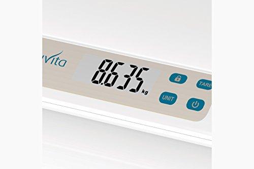 Nuvita 1310 PRIMI PESI Báscula Digital para Bebé – Balanza con Pantalla LCD y Tallimetro - Controle con Precisión el Peso del Bebé - Resultados Precisos y Fiables - Marca Europea - Diseño Italiano