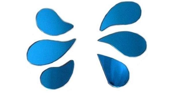 Sendmeamirror Espejos salpicadero, Juego de 6 Espejos Azules ...