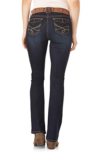 WallFlower Womens Juniors Belted Low-Rise Legendary Slim Bootcut Jeans in Shay, 0 by WallFlower (Image #2)