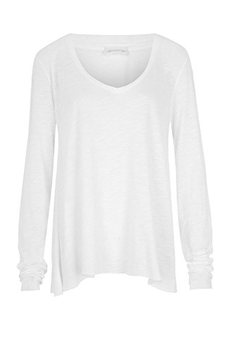 Maglietta maniche a americana bianca vintage lunghe B1TBq0