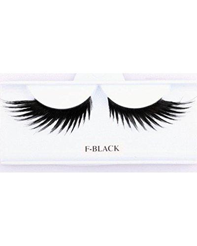 Wig Hair Synthetic Sepia (Wicked Eyelashes Blackblack - Sepia Wigs Women's Synthetic Villain Maleficent Fake Eyelash Glamour Eyez)