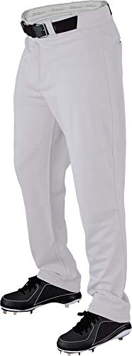 (Wilson Men's P300 Relaxed Fit Warp Knit Pant Baseball Adult Pants (White, 2XL))