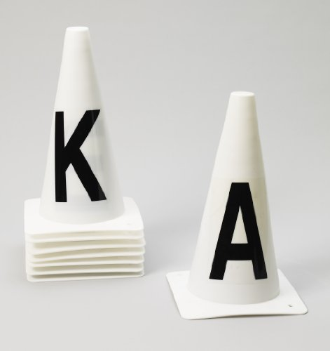 Ovation Dressage Cones-Set of 8 - White - (Dressage Arena Letters)