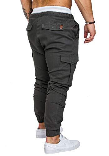 Sports Casual Fashion Gris Foncé Stretch Poches Avec Leggings Automne Pantalon Minetom Homme Hiver Slim Coupe HnWwzIqBZ