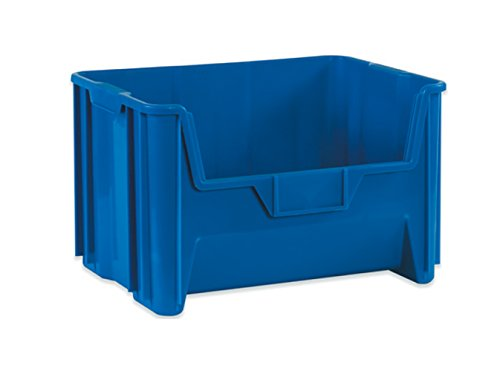 RetailSource BING110-1 19 7/8 x 15 1/4 x 12 7/16'' Blue Giant Stackable Bin by RetailSource