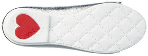 Argento 25555 Fille MOSCHINO Laminato Fermé 9112 Silber Bout Ballerines Argenté qT6dE