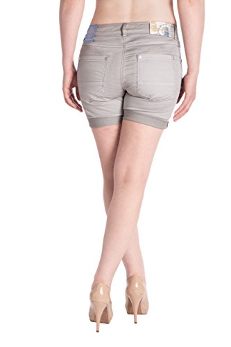 Blue Donna Grigio Pantalone Capri Jeans Monkey Basic rAnqprwBx