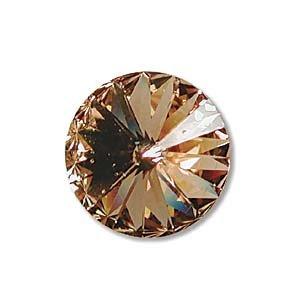 Swarovski Crystal, #1122 Rivoli Fancy Stones 14mm, 2 Pieces, Light Colorado Topaz Sf - Fancy Crystal