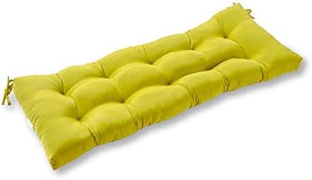South Pine Porch AM5812-KIWI Solid Kiwi Green 51-inch Outdoor Bench Cushion