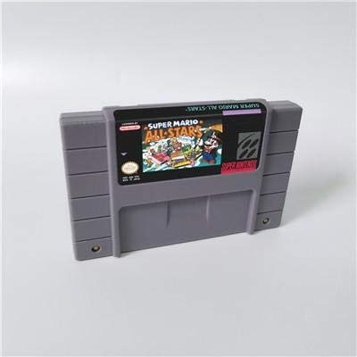 Game card - Game Cartridge 16 Bit SNES , Game Marioed Series Games Super Mario World & All stars - US verion battery Save (Mario All Stars And Super Mario World)