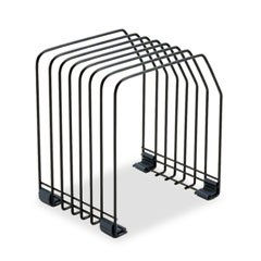 ** Workstation File Organizer, Seven Sections, Wire,7 3/8w x 5 7/8d x 8 1/4h, Black **