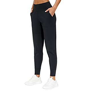 THE GYM PEOPLE Womens Joggers Pants with Pockets Athletic Leggings Tapered Lounge Pants for Workout, Yoga, Running, Training (X-Large, Black)