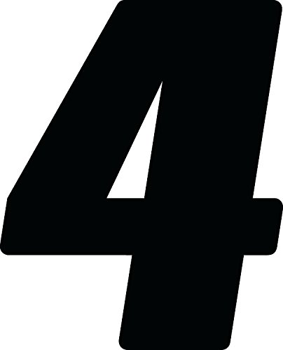 Dirt Digits DD73B-4 Black 7'' High-Gloss Precision Die Cut Vinyl Number 4, 3 Pack