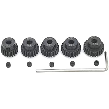 Amazon.com: Mod 1 Pinion Gear 5mm Set Hardened 13T 14T 15T ...