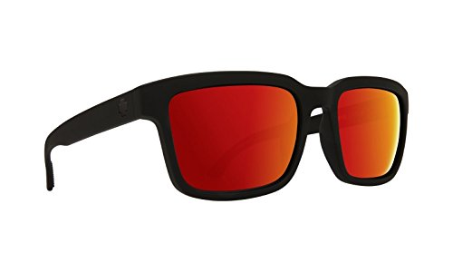 Spy Helm 2 Sunglasses Matte Black with Happy Red Spectra ()