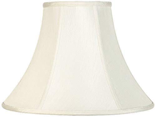 Imperial Collection Creme Bell Lamp Shade 7x16x12 (Spider) - Imperial Shade ()