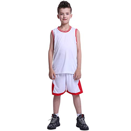 TERODACO Basketball Jerseys for Kids 2 Pcs Girls & Boys Sport Performance Tank Top and Shorts Set for Team Practice