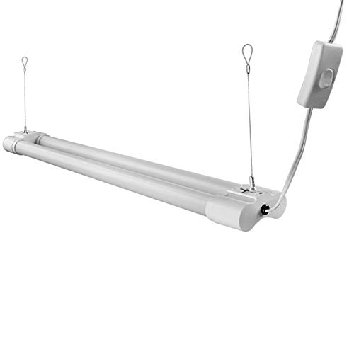 Hykolity 4FT LED Utility Shop Light, 18W 1-Light 1800