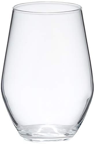 Amazon Basics Campton Stemless Wine Glasses, 19-Ounce, Set of 6