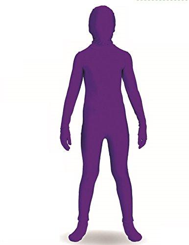 (Forum Novelties I'm Invisible Costume Stretch Body Suit, Purple, Child Medium)