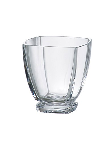 Majestic Gifts European Crystalline Double Old Fashioned Tumbler (Set of 6), 10.75 oz, Clear