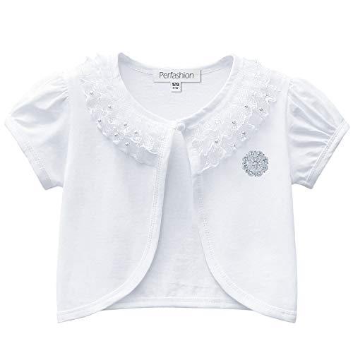 Cardigan for Girls 3t 4t Lace Pearl Bolero Shrugs Short Sleeve Dress Cover - Top Crochet Beaded Tank
