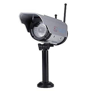 Solar Power Dummy Camera, Outdoor Fake Security Home CCTV Adjustable Camera LED Light Waterproof