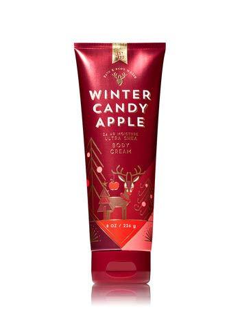 Bath and Body Works WINTER CANDY APPLE Ultra Shea Body Cream 8 Ounce (2018 ()