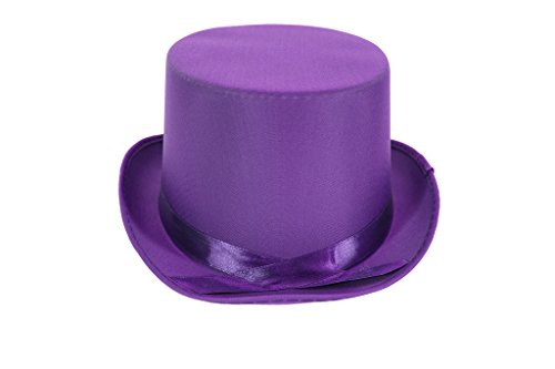 [Dress Up Party Costume TOP Hat (Purple)] (Willy Wonka Costume)