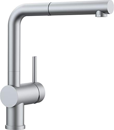 Blanco Linus-S Vario Kitchen Tap Metallic Surface Chrome High-Pressure, silver, 512403