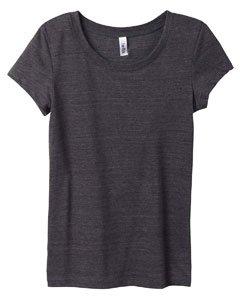 Bella Women's Cameron Tri-Blend Crewneck Short-Sleeve T-Shirt, charcoal heather, Large (Ladies Bella Cotton Crewneck T-shirts)