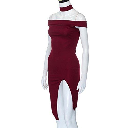 Off Summer Red Wine Shoulder Halter Beach Dress Mini Women Party Creazydog Creazy Dress xZqfOB