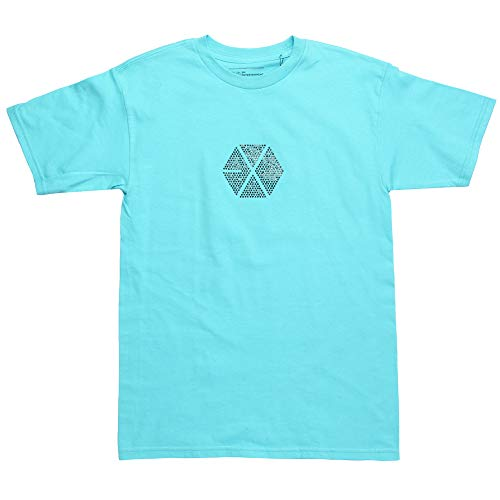 EXO T-Shirt with Rhinestone Logo - Blue (Small)