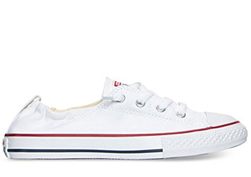 Converse Junior's Chuck Taylor Shoreline Slip On Basketball Shoes (13 LITTLE KID M, WHITE) (Girls White Star Shoes For All)