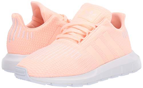adidas Originals Baby Swift Running Shoe, Clear Orange/Weiss-Schwarz/White, 4K M US Toddler by adidas Originals (Image #5)