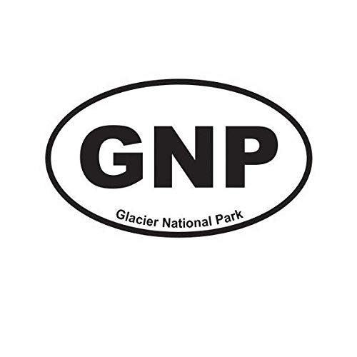 (ION Graphics Glacier National Park Oval Sticker Decal Vinyl Euro GNP 5