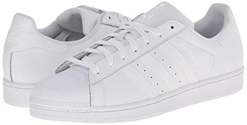 low priced ae813 7fb52 adidas Originals Men s Superstar Foundation Casual Sneaker, White Running  White White, 15