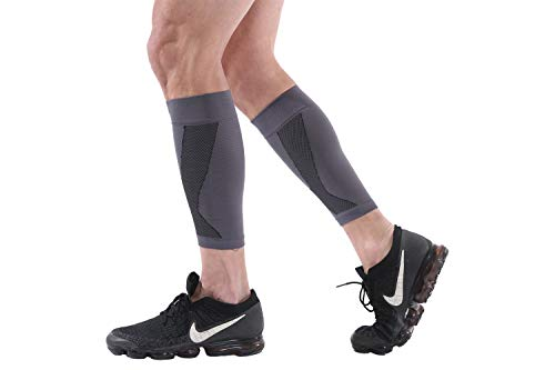 Calf Compression Sleeve 1 Pair, Leg Compression Socks for Men and Women (20-30mmHG), Support Running,Hiking, Cycling, Fitness, Help Shin Splints, Varicose Veins, Calf Pain & Swelling Relief