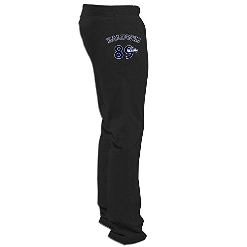 Men's Seahawk Wide Receiver #89 Athletics Training Running Sweatpants Black L