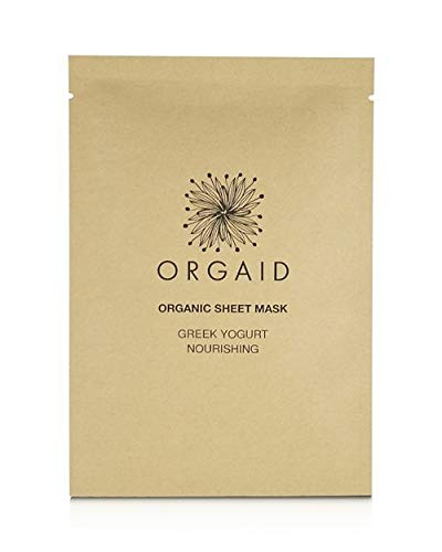 The Orgaid Greek Yogurt Nourishing Sheet Mask travel product recommended by Adina Mahalli on Pretty Progressive.