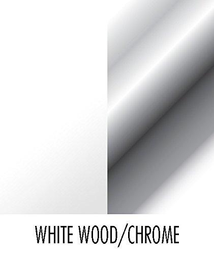 Spectrum Diversified Seven Hook Key Rack, White Wood/Chrome