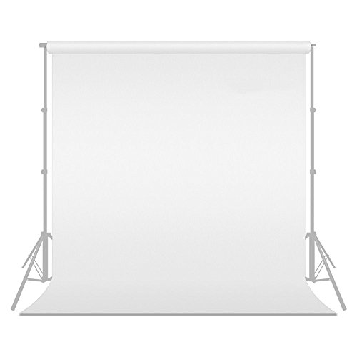 10 x 10FT/3 x 3M Photo Studio 100% Pure Muslin Collapsible Backdrop Background for Photography,Video and Television (Background ONLY) - White