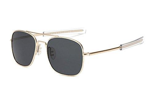soleil Or Gris et hommes de Protection pilote lunettes femmes Rétro UV Vintage Polarized pour lunettes Pqwv06O