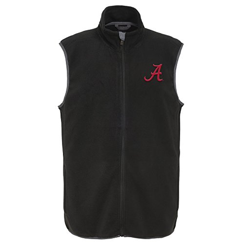 NCAA Alabama Crimson Tide Kids & Youth Boys Scrimmage Polar Fleece Vest, Black, Youth Small(8) by NCAA by Outerstuff