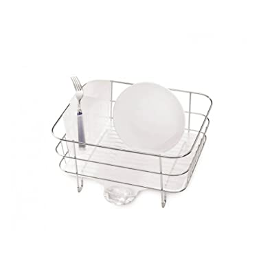 simplehuman Compact Wire Frame Dishrack, Stainless Steel