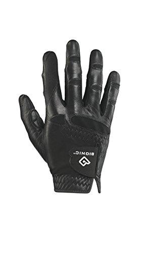 Bionic GGNBMRML Men's StableGrip with Natural Fit Black Golf Glove, Right Hand, Medium/Large