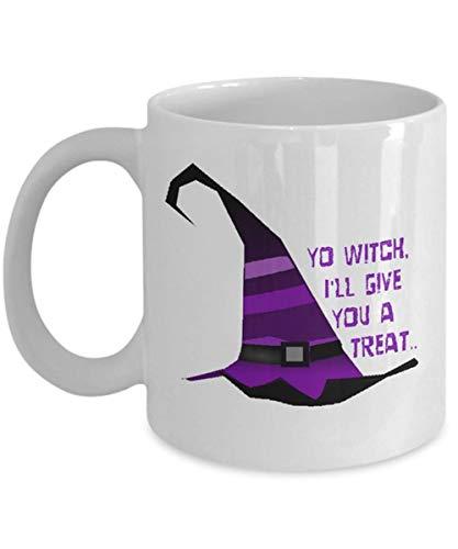 CrossLove - Halloween Mug, Halloween Gift, Witch, Magic Potion, Potion, Trick or Treat, Karma, Hocus Pocus, Coffee Mug -11oz Ceramic Coffee Novelty Mug/Tea Cup, High Gloss (Set Hocus Magic Pocus)